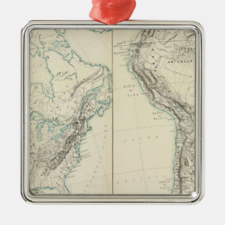 N & S America physical Silver-Colored Square Decoration