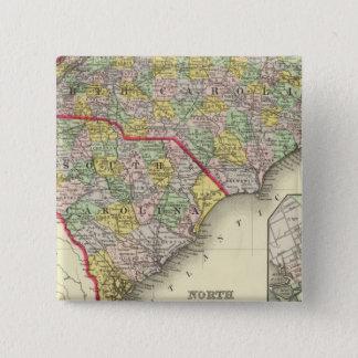 N & S Carolina 15 Cm Square Badge