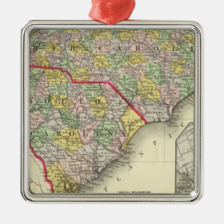 N & S Carolina Christmas Ornament