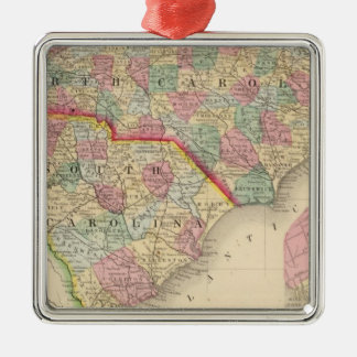 N & S Carolina Map by Mitchell Christmas Ornament