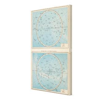 N, S Sternhimmel Celestial Atlas Map Canvas Print