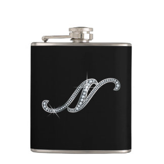 "N Script ""Diamond Bling"" Flask"
