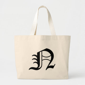N-text Old English Large Tote Bag