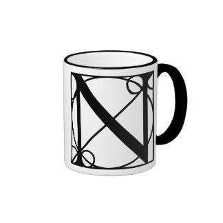 N- Typography Initial Ringer Mug