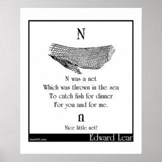 N was a net print