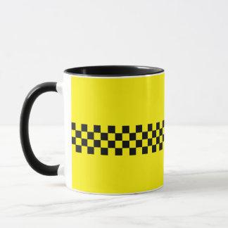 N.Y.C. Cab Black 11oz Ringer Mug