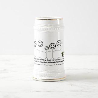 N.Y.E. Tourist Tip #1 Stein 18 Oz Beer Stein