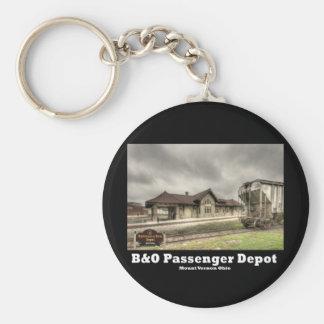 NA121.B&O Depot Basic Round Button Key Ring