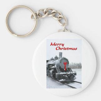 NA137.Merry Christmas.5x7. Basic Round Button Key Ring