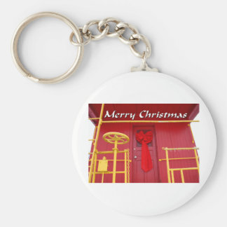 NA138.Merry Christmas.7x5. Basic Round Button Key Ring
