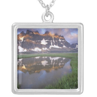 NA, Canada, Alberta, Tonoquin Valley. Jasper Silver Plated Necklace