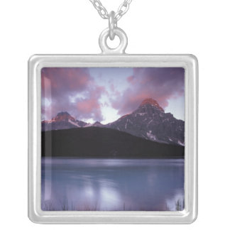 NA, Canada, Banff NP, Morning's first light on Silver Plated Necklace