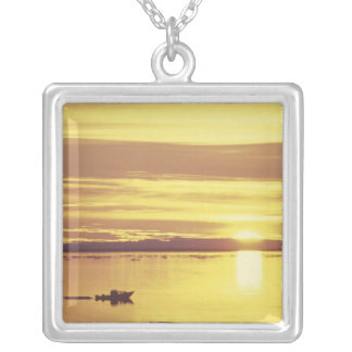 NA, Canada, Canadian Arctic, Baffin Island Silver Plated Necklace