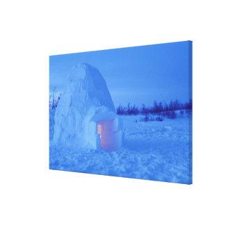 NA, Canada, Manitoba, Churchill. Arctic igloo Canvas Print