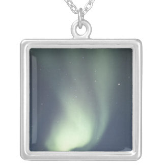 NA, Canada, Manitoba, Churchill Northern lights, Silver Plated Necklace