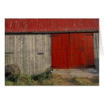 NA, Canada, New Brunswick, Shepody. Red barn Greeting Cards