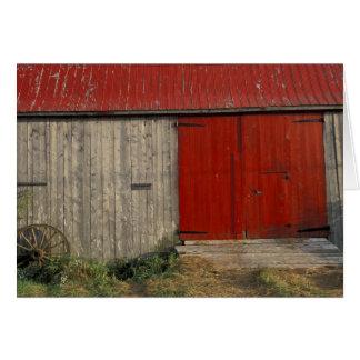 NA, Canada, New Brunswick, Shepody. Red barn Card