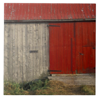NA, Canada, New Brunswick, Shepody. Red barn Tile