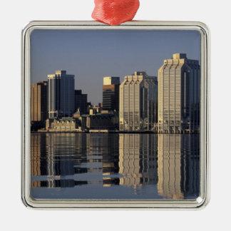 NA, Canada, Nova Scotia, Halifax. Halifax Silver-Colored Square Decoration