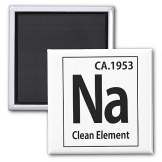 NA Clean Element Periodic Table Square Magnet
