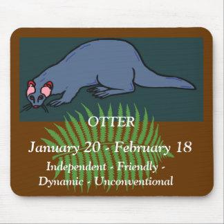 NA Otter Horoscope Mouse Pad