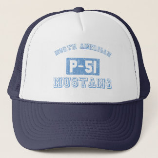 NA p-51 Mustang - BLUE Trucker Hat