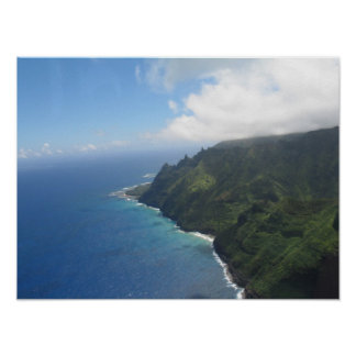 Na Pali Coast - High Aerial Poster