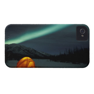 NA, USA, Alaska, Brooks Range. Curtains of green iPhone 4 Covers