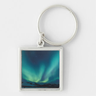 NA, USA, Alaska, Brooks Range, Curtains of green Key Ring