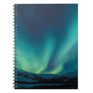 NA, USA, Alaska, Brooks Range, Curtains of green Notebook