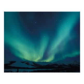 NA, USA, Alaska, Brooks Range, Curtains of green Poster