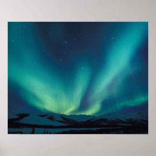 NA, USA, Alaska, Brooks Range, Curtains of green Poster