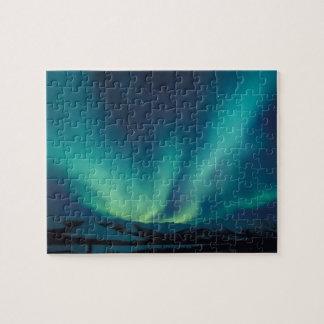 NA, USA, Alaska, Brooks Range, Curtains of green Puzzles