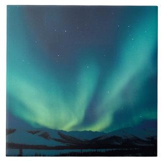 NA, USA, Alaska, Brooks Range, Curtains of green Tile