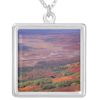 NA, USA, Alaska, Denali NP, View of McKinley Silver Plated Necklace