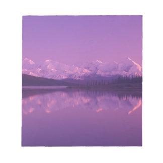 NA, USA, Alaska, Denali NP, Wonder Lake, Evening Notepad