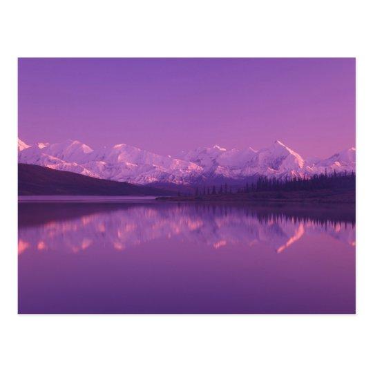 NA, USA, Alaska, Denali NP, Wonder Lake, Evening Postcard