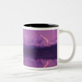NA, USA, Alaska, Denali NP, Wonder Lake, Evening Two-Tone Coffee Mug