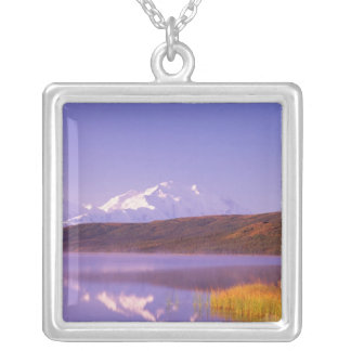 NA, USA, Alaska, Denali NP, Wonder Lake, Mt. Silver Plated Necklace
