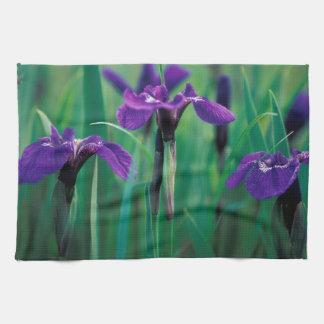NA, USA, Alaska, Knight Island, Wild iris Tea Towel