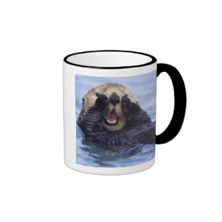 NA, USA, Alaska. Sea otters are the largest Ringer Mug