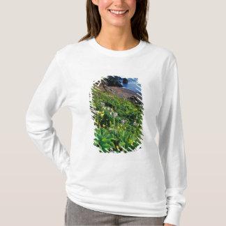 NA, USA, Alaska, Semidi Islands, Wildflowers T-Shirt