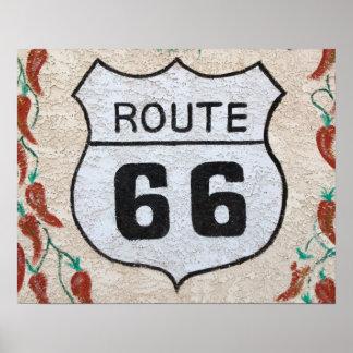 NA, USA, Arizona, Holbrook Route 66 street sign