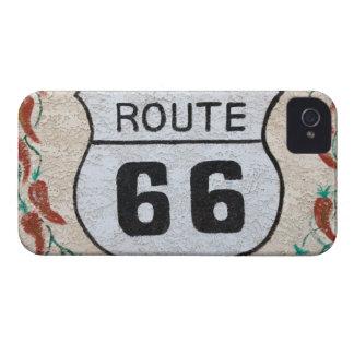 NA, USA, Arizona, Holbrook Route 66 street sign Case-Mate iPhone 4 Cases