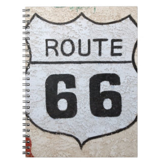 NA, USA, Arizona, Holbrook Route 66 street sign Notebook