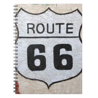 NA, USA, Arizona, Holbrook Route 66 street sign Notebooks