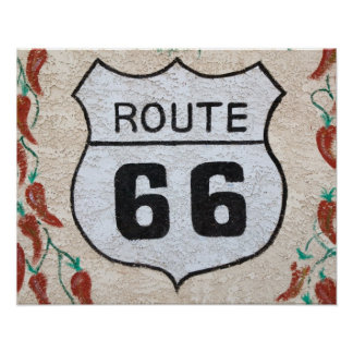 NA, USA, Arizona, Holbrook Route 66 street sign Poster