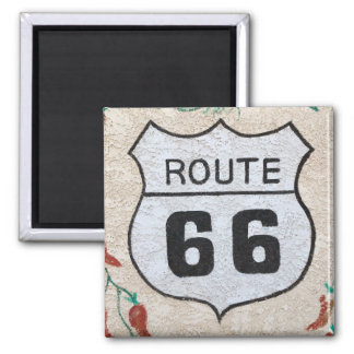 NA, USA, Arizona, Holbrook Route 66 street sign Square Magnet