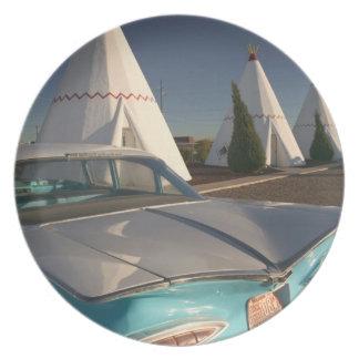 NA, USA, Arizona, Holbrook Route 66, Wigwam 2 Plate