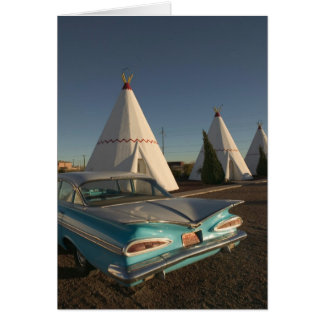 NA, USA, Arizona, Holbrook Route 66, Wigwam Card